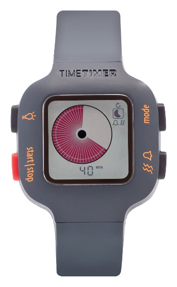 Time Timer Watch Plus Junior (donkergrijs/oranje)